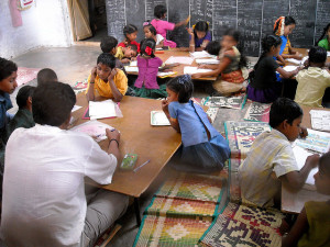 Aid India Field Visit - RIVER - MGML Classroom 10